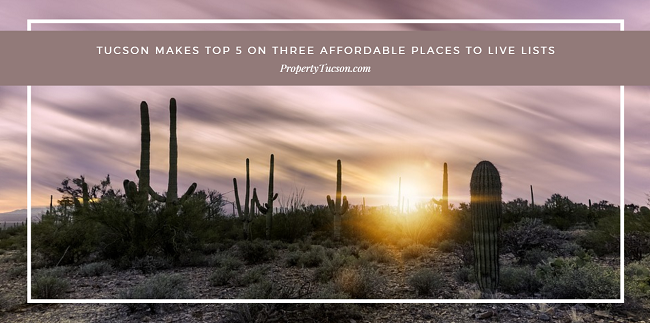 Tucson made several of the most affordable places to live lists for college students, millennials, and for those households making under $60,000 per year.