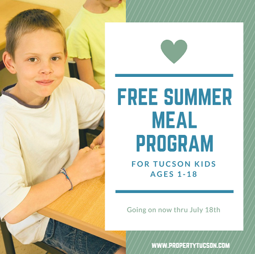 More than 370,000 Arizona children go hungry every day. But they don't have to. TUSD offers a free summer meal program for all Tucson kids ages 1 to 18 (breakfast and lunch) through July 18th.