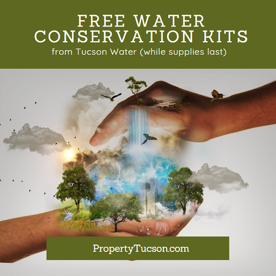 Order your free water conservation kit from Tucson Water today. Supplies are limited. Only one available per household while supplies last. Save money and save the planet today.