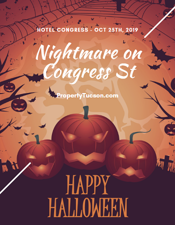 Call up the babysitter to watch the kids. Dress up in your best costume and head to Hotel Congress for the Nightmare on Congress St party in downtown Tucson this Friday, October 25, 2019.