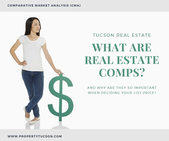 When trying to decide on a proper sale price, talk to your Tucson real estate agent about running real estate comps (aka CMA) on similar properties in your area.