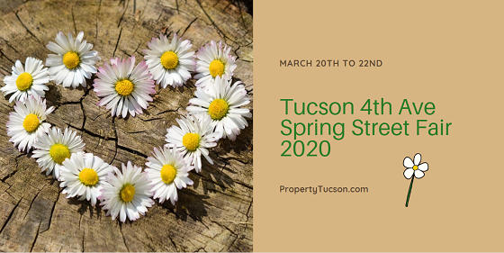 Celebrate the start of a new season at the Tucson 4th Ave Spring Street Fair 2020 in the Historic 4th Ave District on March 20th to 22nd.