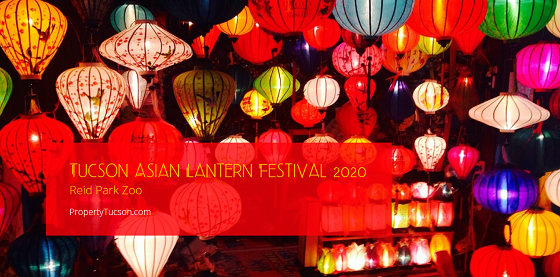 Celebrate the Chinese new year from mid-February to the end of March at the Tucson Asian Lantern Festival 2020 held at the Reid Park Zoo.