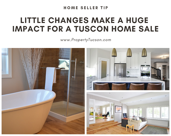 Many of today's buyers want a move-in ready home instead of a fixer-upper. Instead of throwing thousands of dollars into a major renovation, though, you can make a few small changes that will create a huge impact for a Tucson home sale.