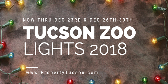 Enjoy some family-friendly Christmas fun at the Reid Park Zoo during Tucson Zoo Lights 2018.