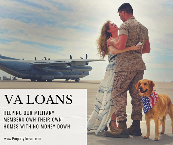 Current and former military members in good standing can utilize VA loans to purchase their Tucson home with no money down.