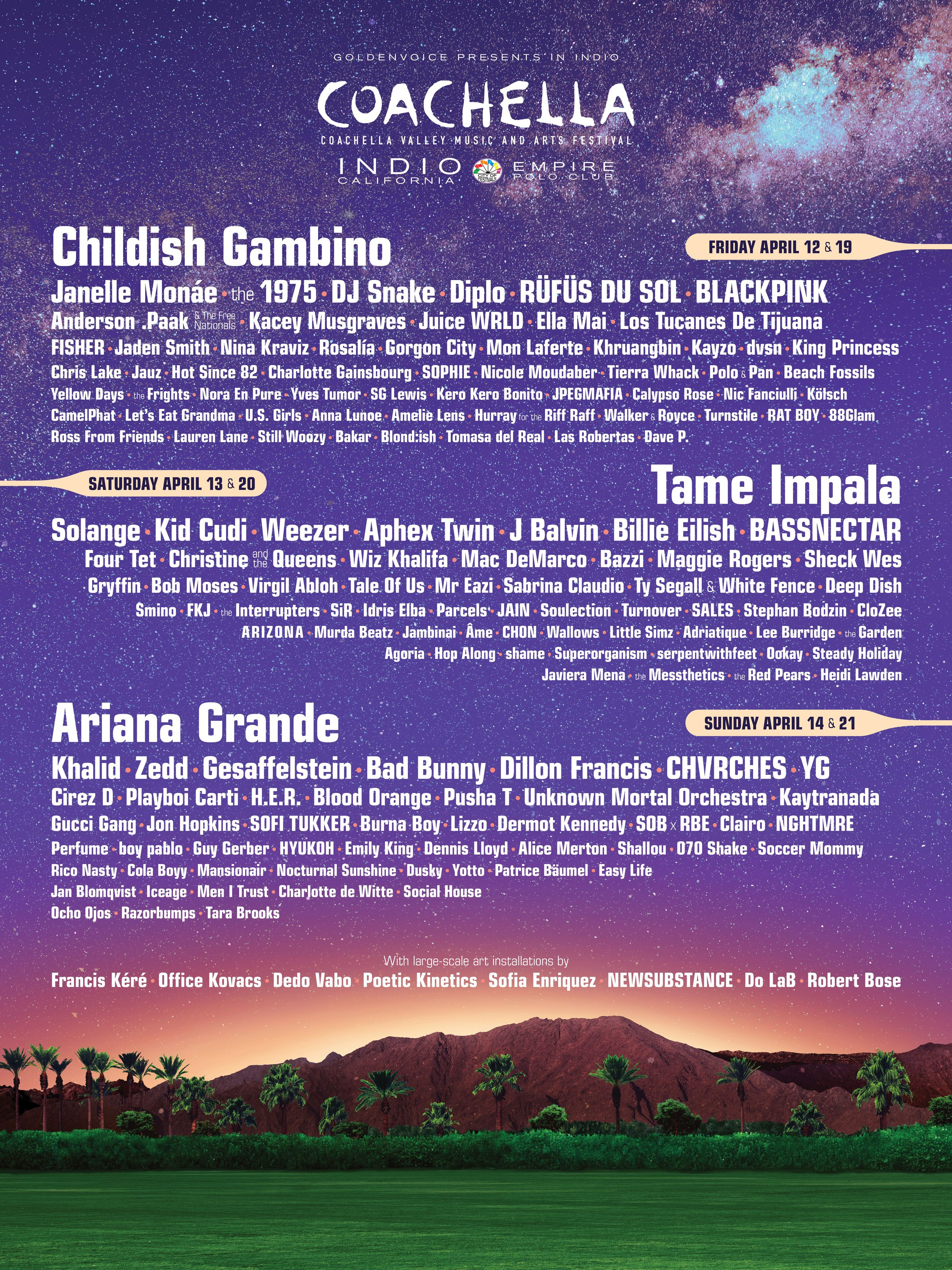 2019 Coachella Poster