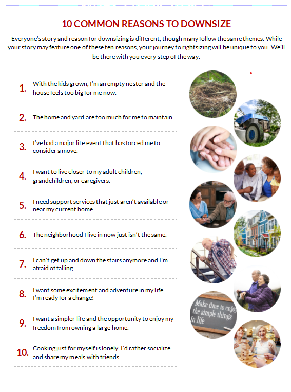 10 Reasons to Downsize