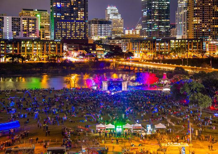 Austin, Texas, New Year's Eve, 2018, Auditorium Shores