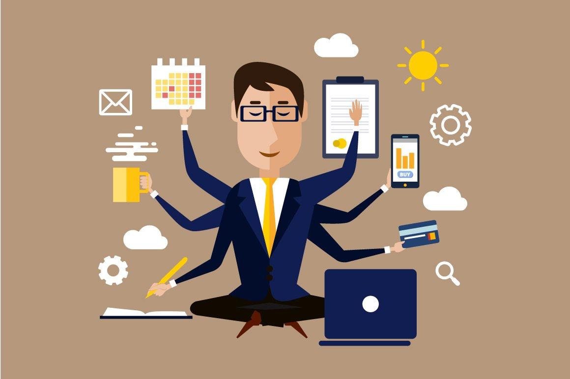multitasking real estate agent