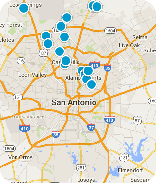 San Antonio Real Estate Map