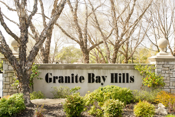Granite Bay Hills Community Entrance