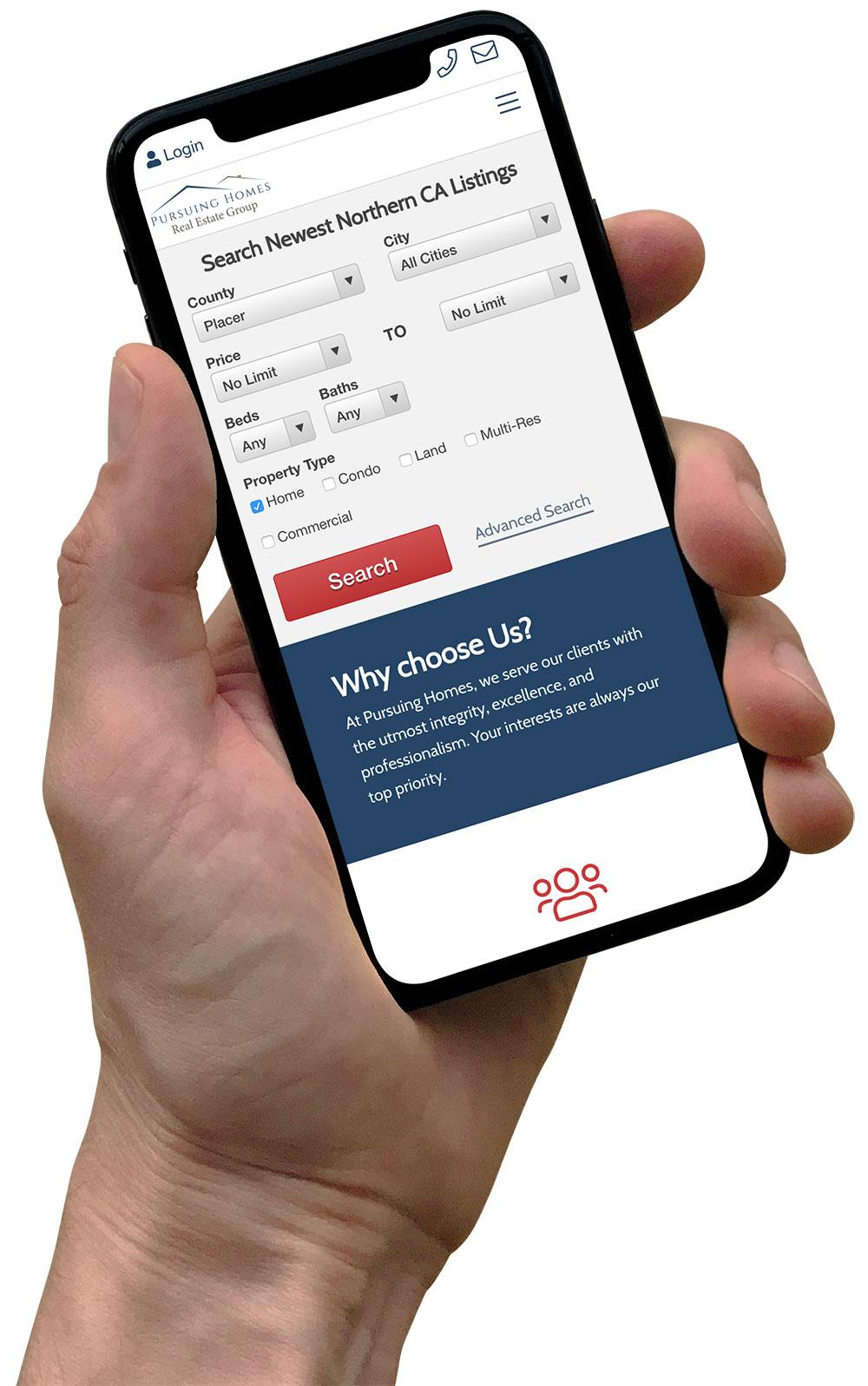 pursuing homes app