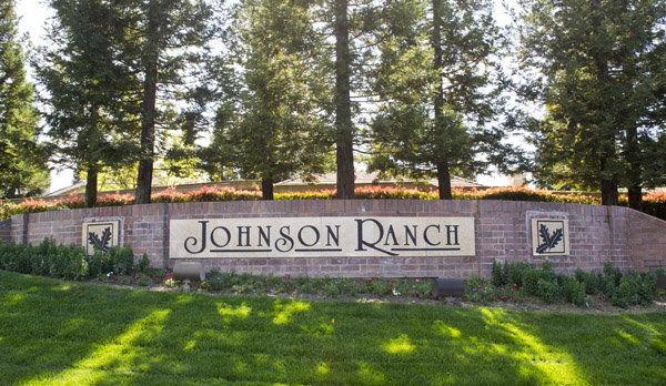 Johnson Ranch in Roseville Entrance