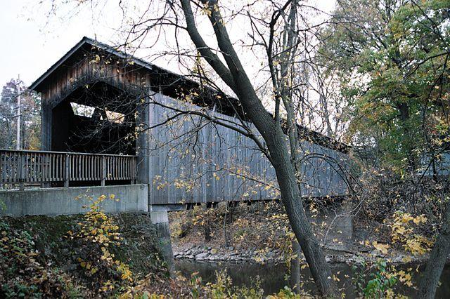 """Ada Covered Bridge-Michigan"" by Sandysphotos2009"