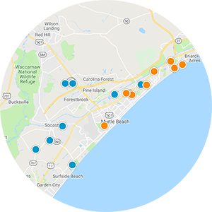Surfside Beach Real Estate Map Search