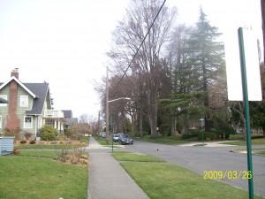 View towards Elizabeth Park