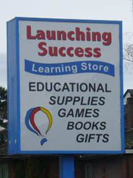 Launching Success sign