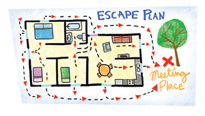 Creating your family fire safety plan for Fire escape plan worksheet