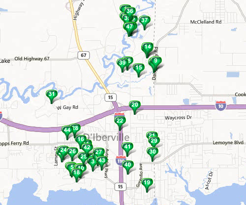 D'Iberville MLS Area Map Available Properties
