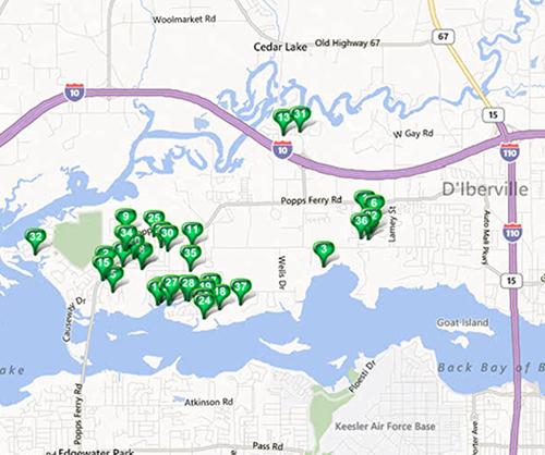 North Biloxi - MLS Area Map Results