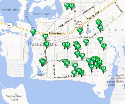 Pascagoula - MLS Area Map Available Properties