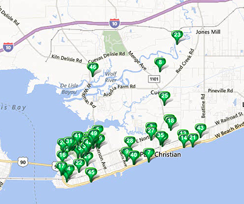 Pass Christian - MLS Area Map Available Properties