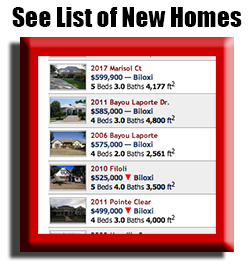 List of all new construction homes for sale in biloxi, gulfport, ocean springs