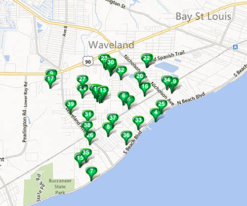 Waveland - MLS Area Map Available Properties