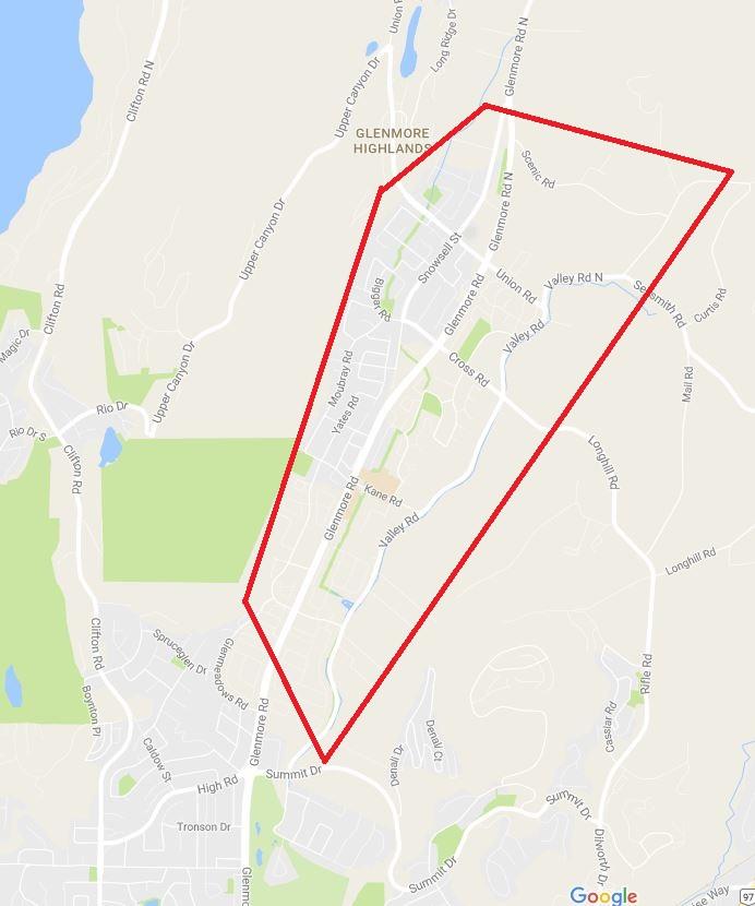 North Glenmore map