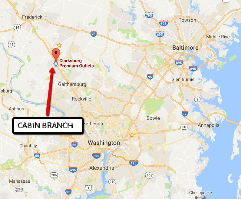 Map For Clarksburg Cabin Branch