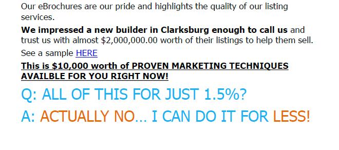 Clarksburg MD selling