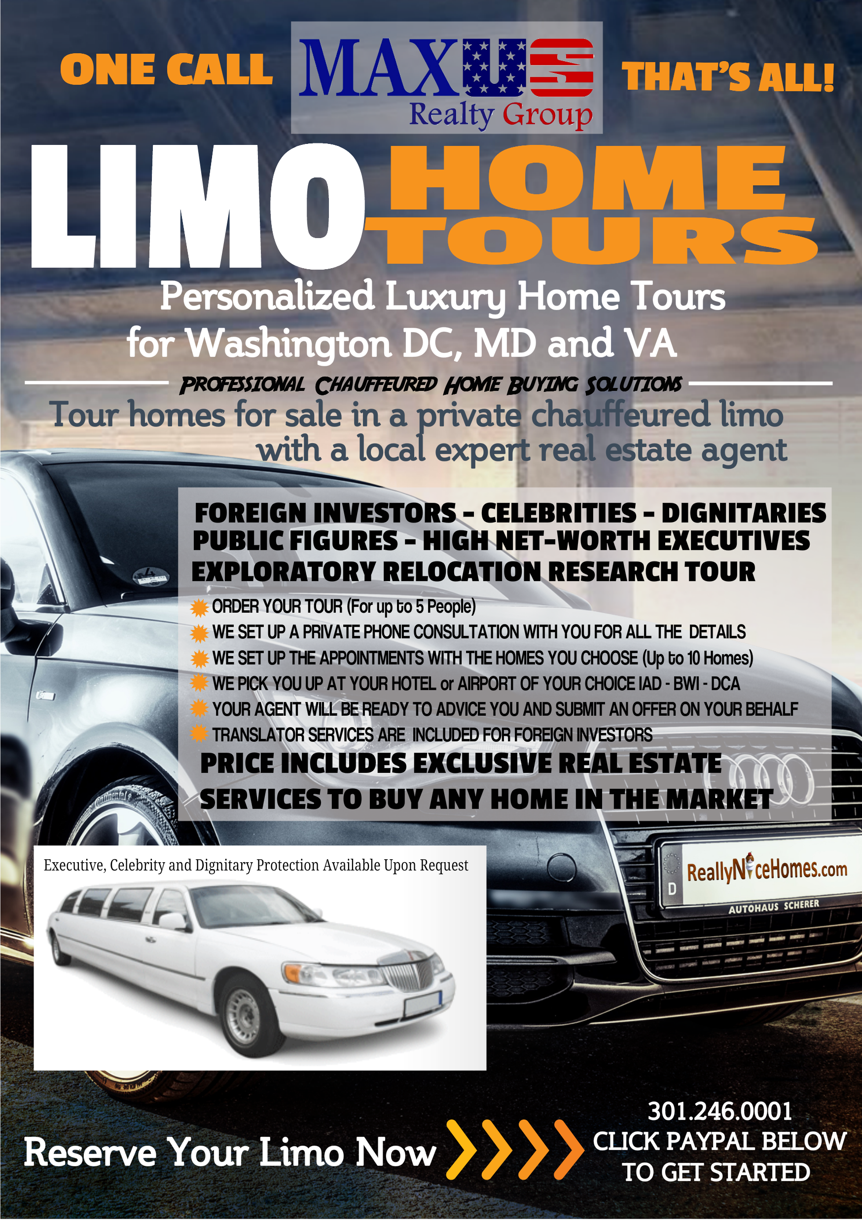 limo home tours