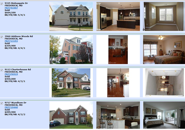 Villages of Urbana Maryland Real Estate Listings