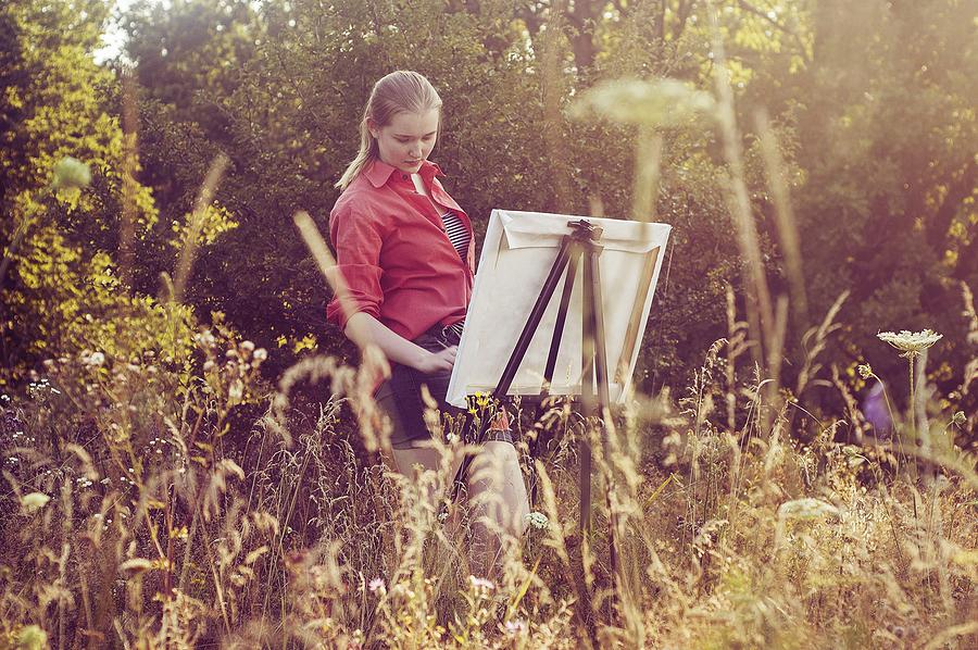 Learn plein air painting near Sedona homes.