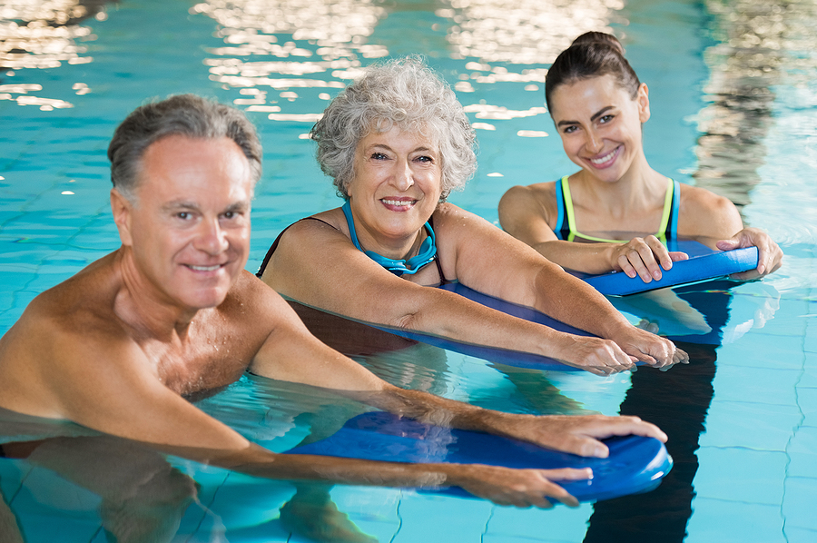 Sedona property owners work out in aqua fitness classes.