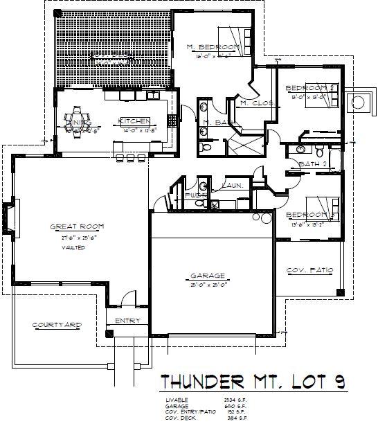 Sedona new construction floor plan