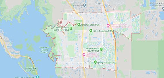 Estero Florida map
