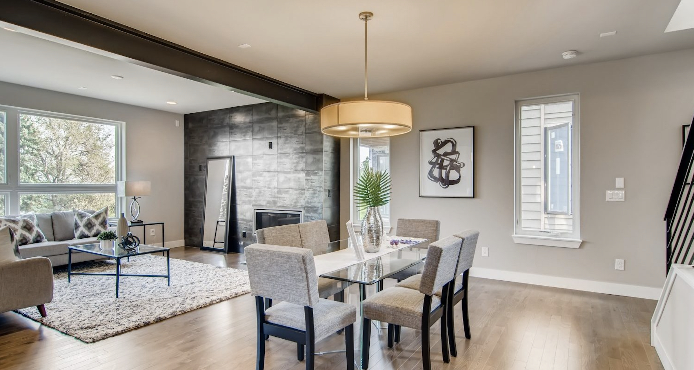 5390' Community by Koelbel in the Berkeley Tennyson Neighborhood Denver New Construction Homes For Sale Living Dining