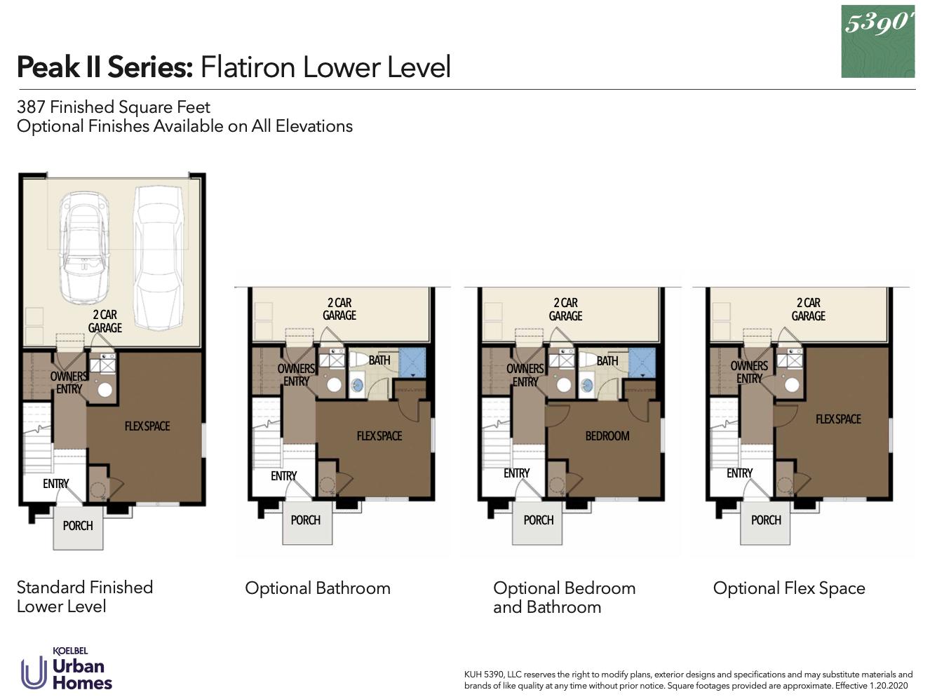 5390' Community by Koelbel in the Berkeley Tennyson Neighborhood Denver New Construction Homes For Sale Peak II Flatiron Floorplan1