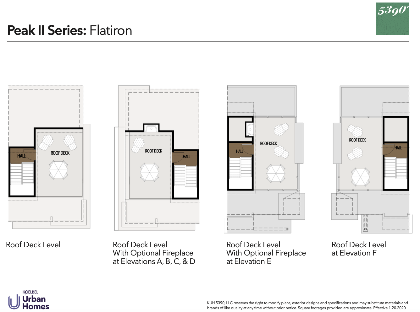 5390' Community by Koelbel in the Berkeley Tennyson Neighborhood Denver New Construction Homes For Sale Peak II Flatiron Floorplan2