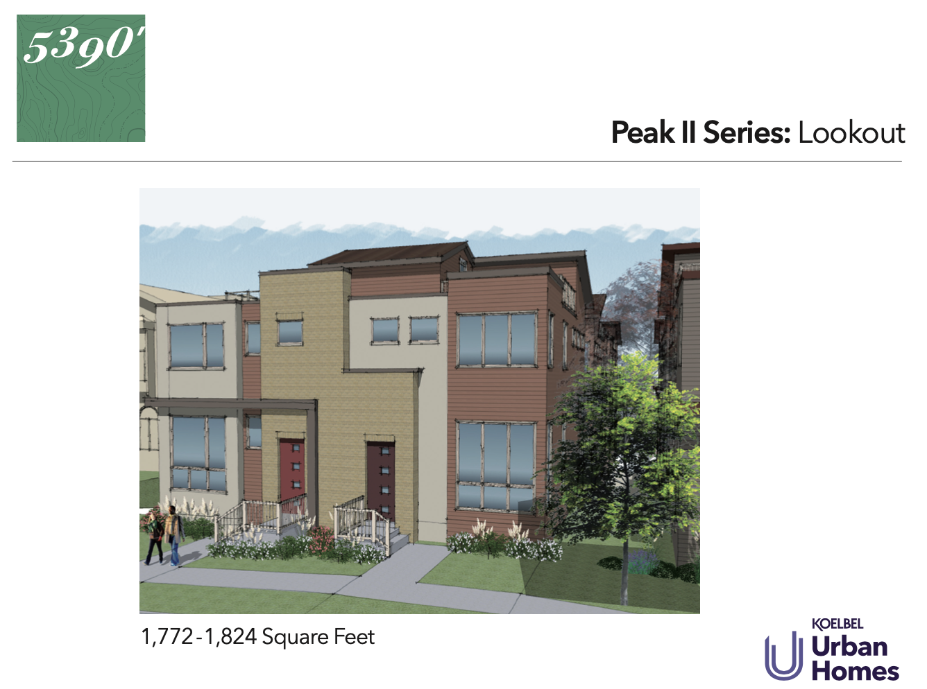 5390' Community by Koelbel in the Berkeley Tennyson Neighborhood Denver New Construction Homes For Sale Peak II Lookout Elevation