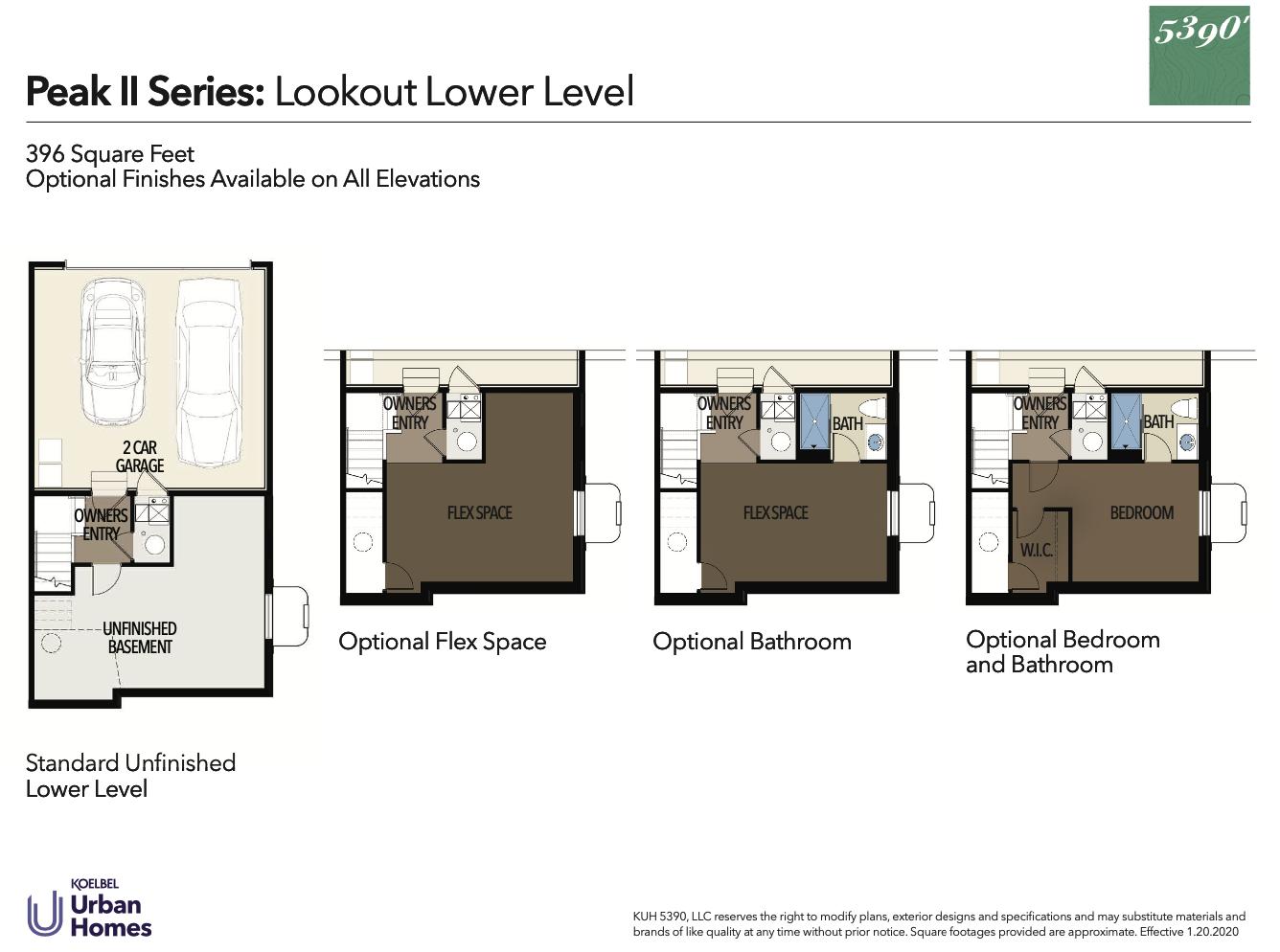 5390' Community by Koelbel in the Berkeley Tennyson Neighborhood Denver New Construction Homes For Sale Peak II Lookout Floorplan1