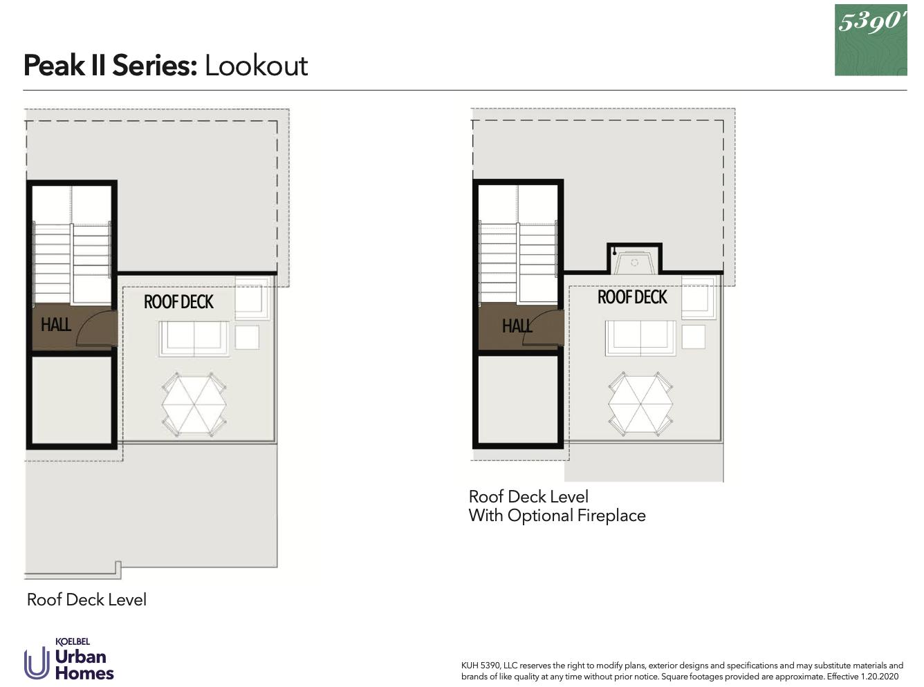 5390' Community by Koelbel in the Berkeley Tennyson Neighborhood Denver New Construction Homes For Sale Peak II Lookout Floorplan3