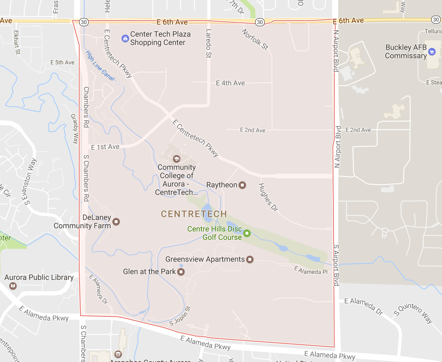 map search ofCentretech Neighborhood Homes For Sale