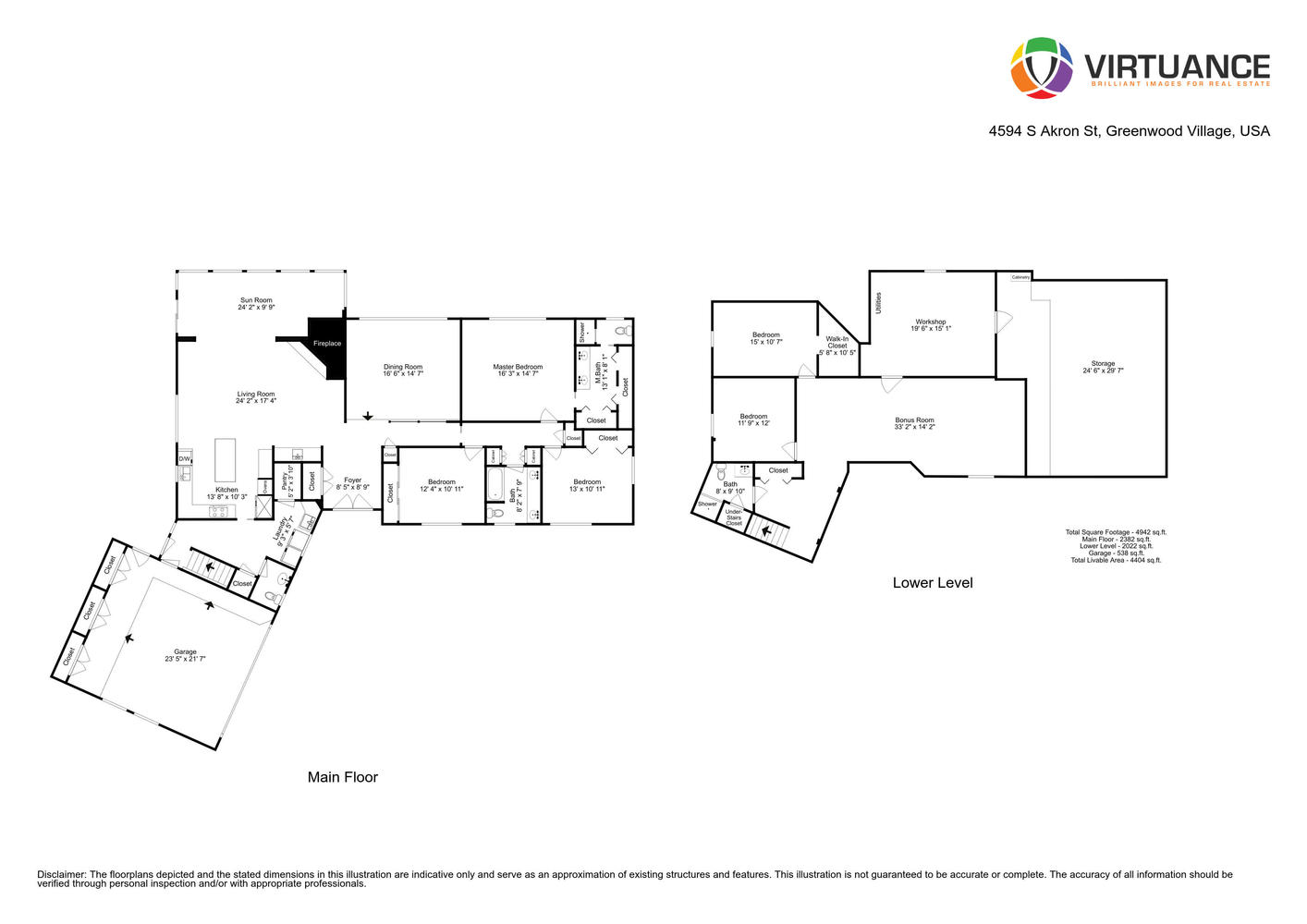Interactive floor plan and more pictures available of 4594 S Akron St in the Cherry Creek Village Neighborhood