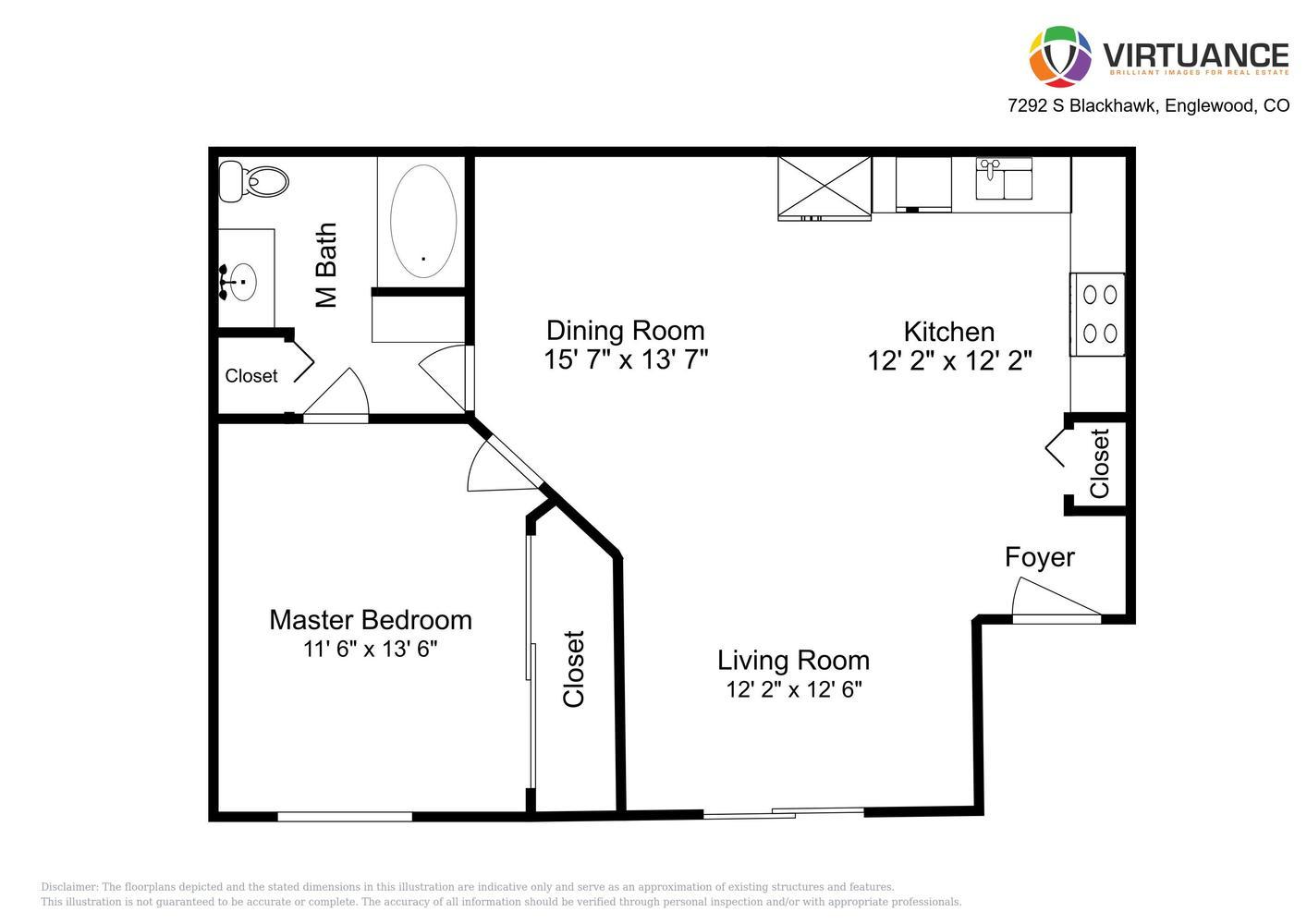 Floor Plan Of 7292 S Blackhawk St #204 Englewood