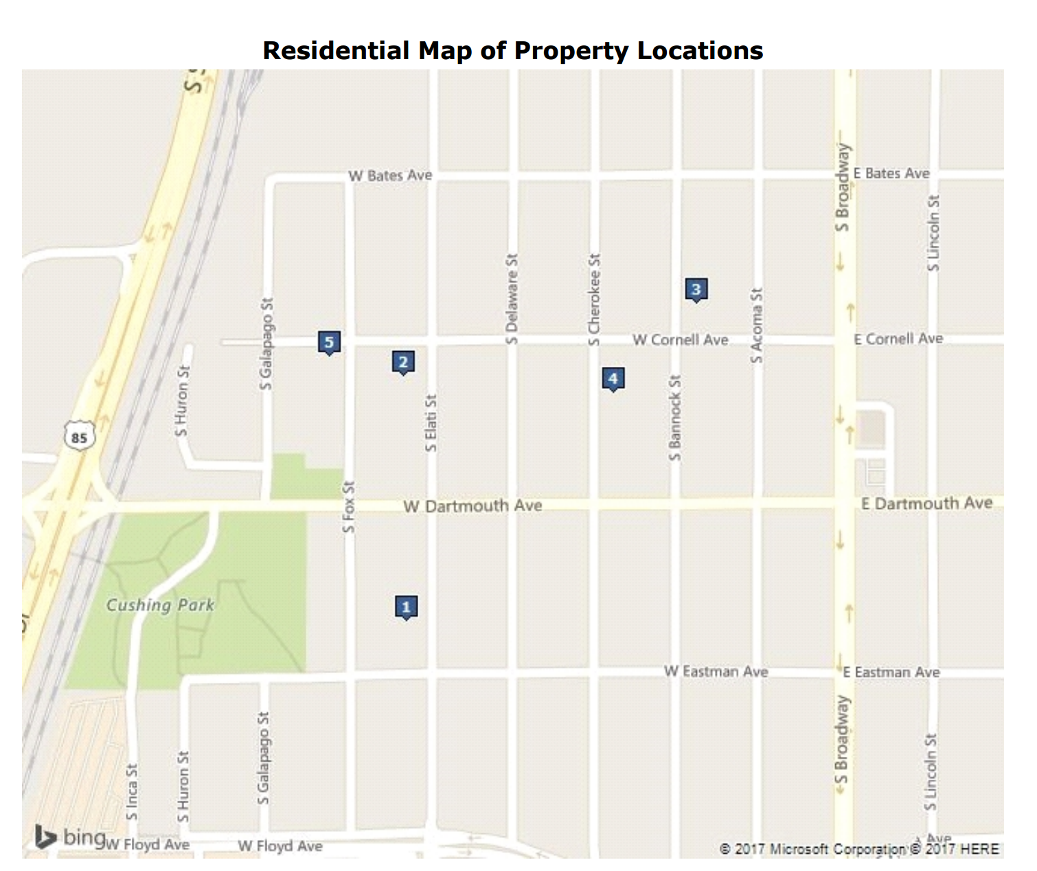 Map of Property Locations9962 Denver Realtor Reviews Englewood Home For Sale 3165 S Elati St