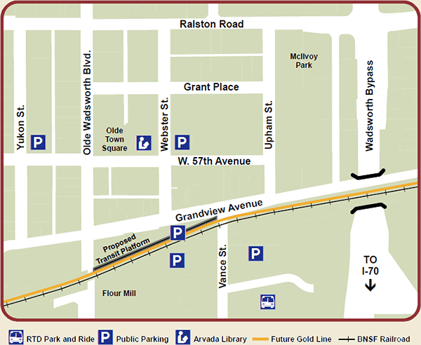 Olde Town Arvada Map