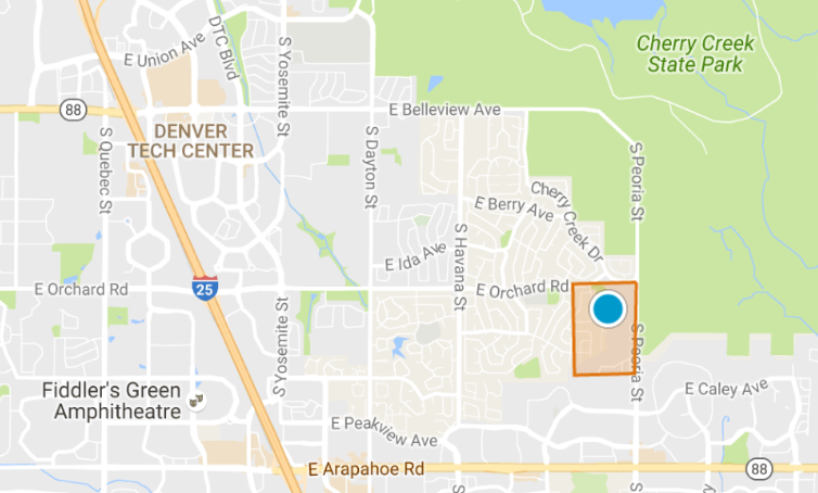 Map Search Of Homes For Sale In The Reserve At Cherry Creek Vista